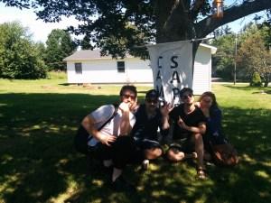 Ben Burnett and gang, photo by Brad Allen