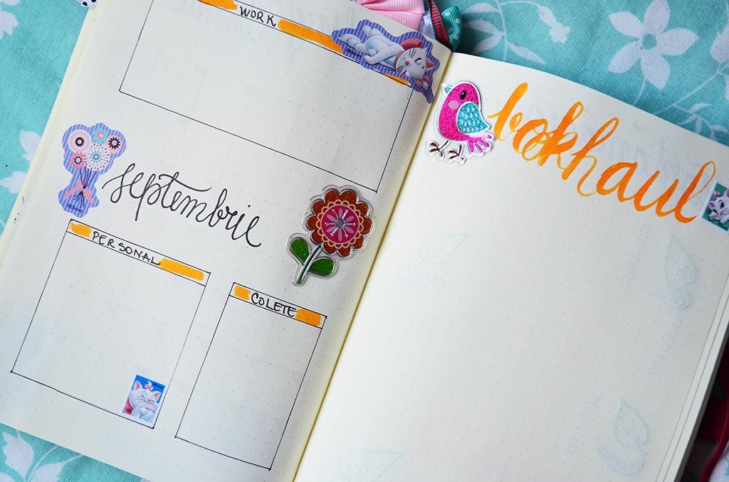 bullet journal bujo septembrie september spread calendar