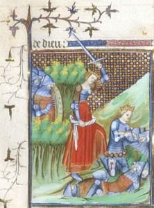 Thamire' (Thamyris), queen of the Scythians, killing Cyrus 1