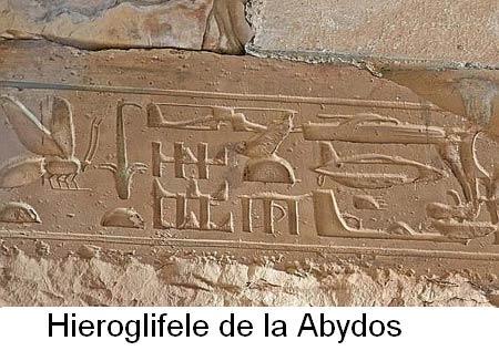 Hieroglifele din Abydos