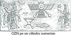OZN pe un cilindru sumerian