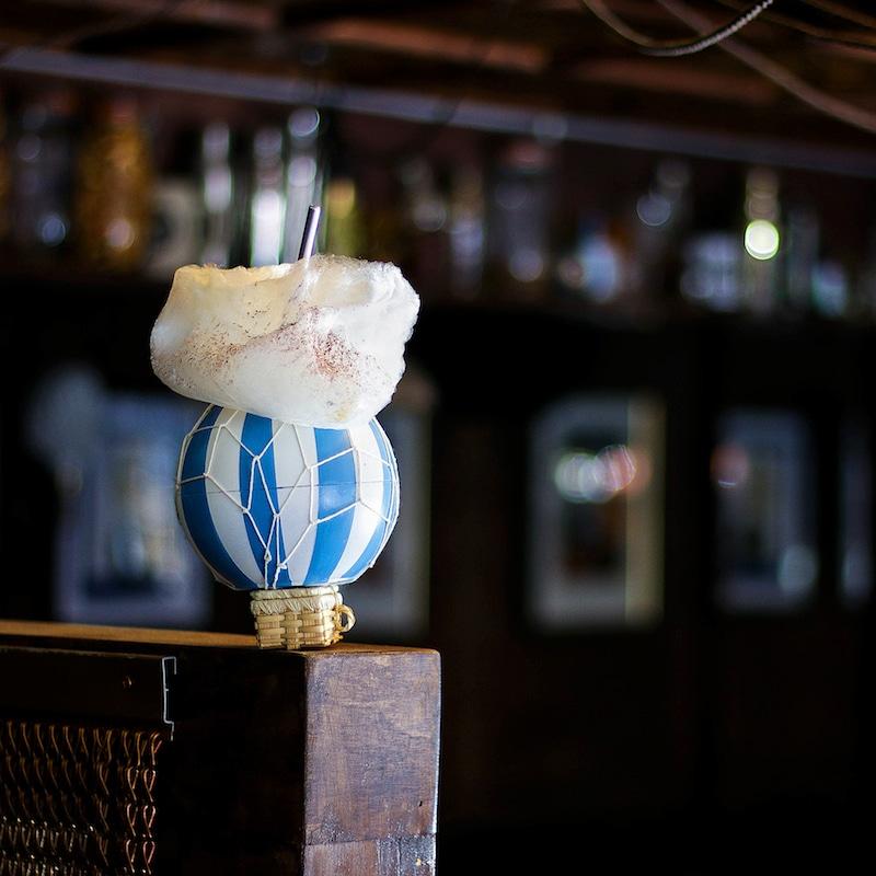 Blue Moon Hot Air Balloon Cocktail