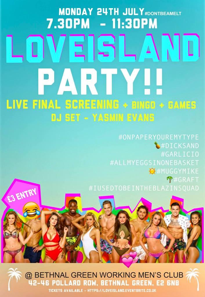 Love Island Finale Party London