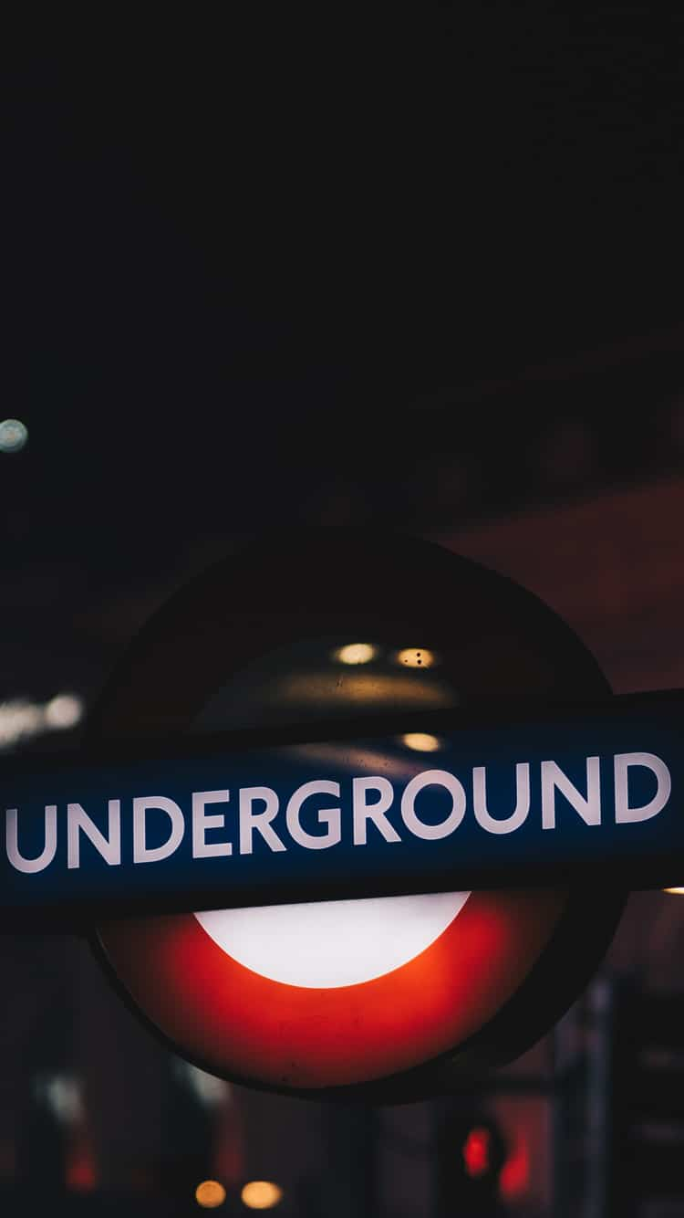 London Underground Sign Phone Wallpaper