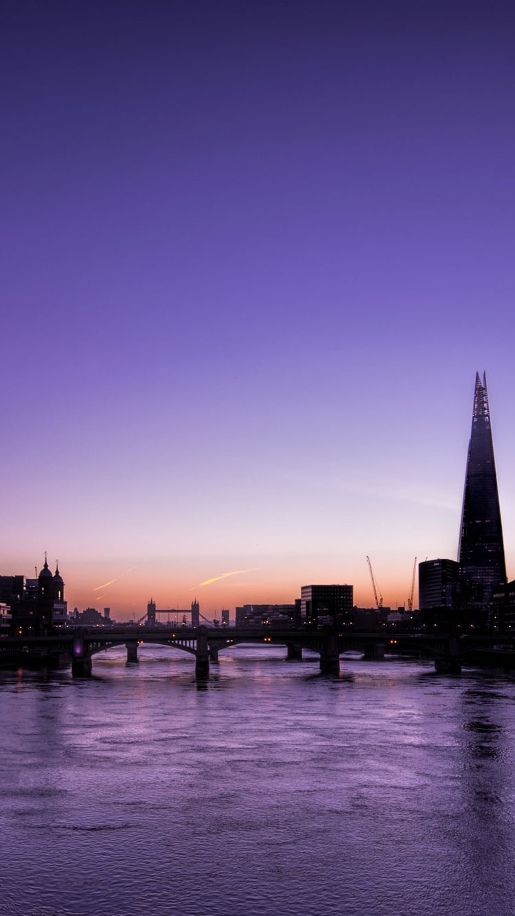 Sunset over the Thames: free HD phone wallpaper