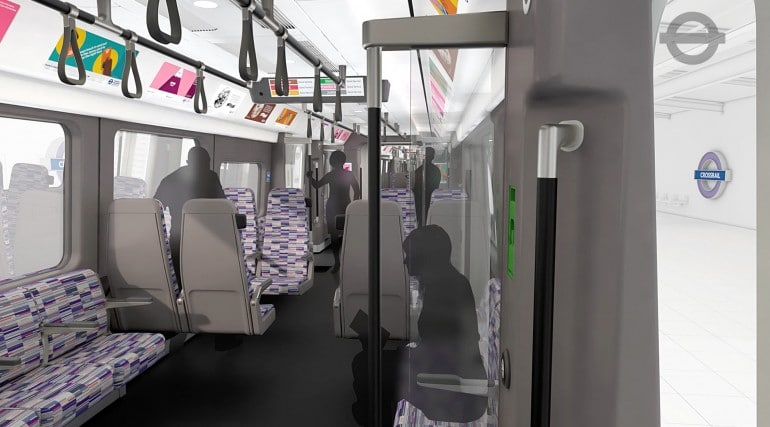 tfl image - crossrail train interior bay seats_214476