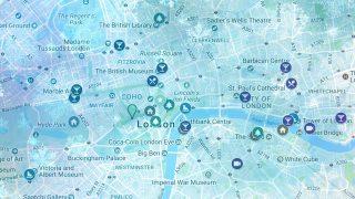 Christmas Map of London