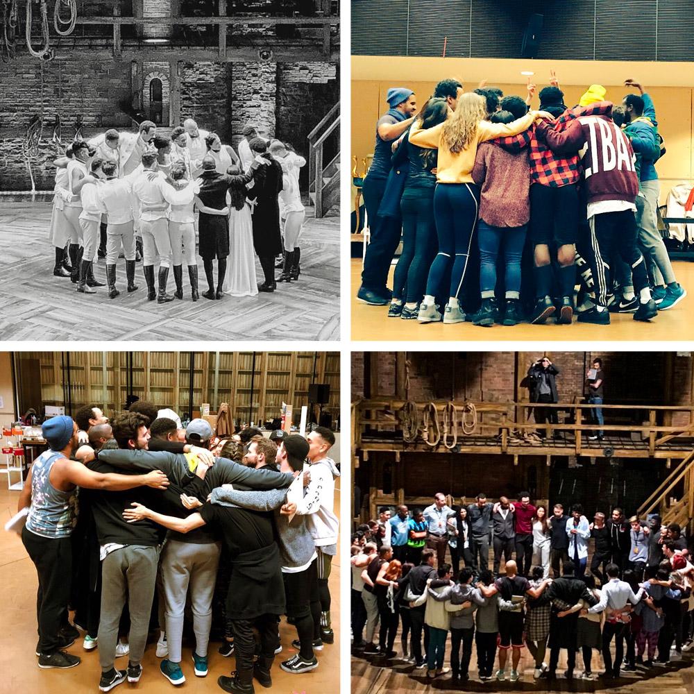Hamilton cast rehearsals