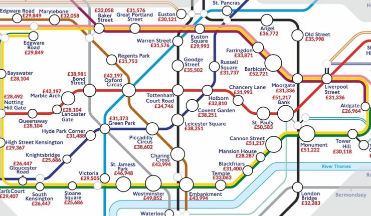 tube map london salaries
