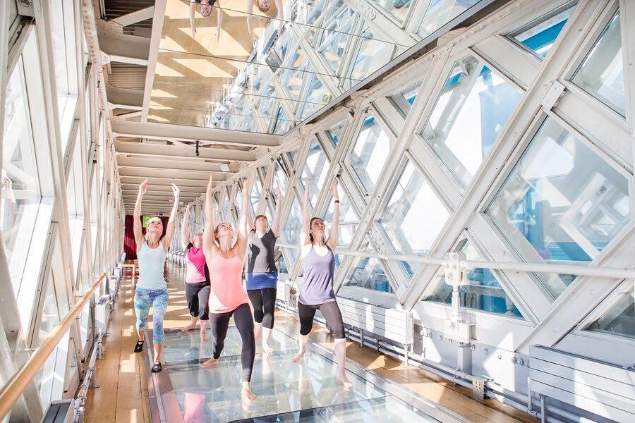 Tower Bridge Yoga Glass Floor