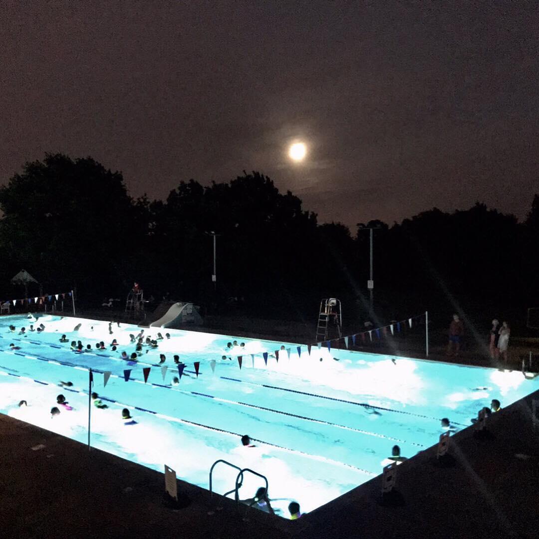 Moonlight Swim Hampton Pool