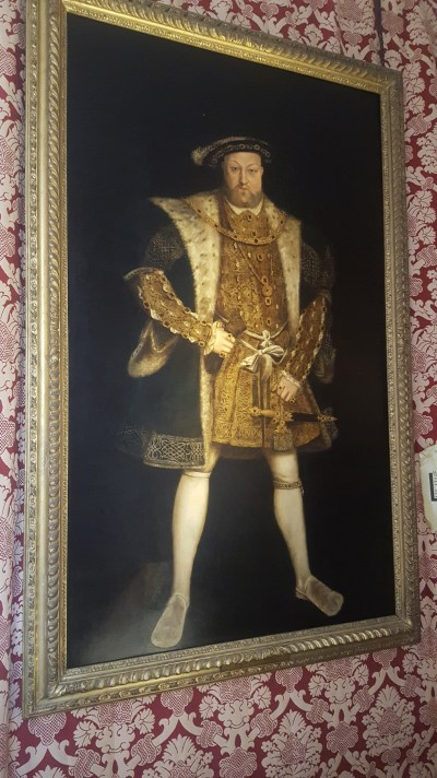 My students had used this to model their Tudor portraits off of and then here was the real thing. So darn cool.