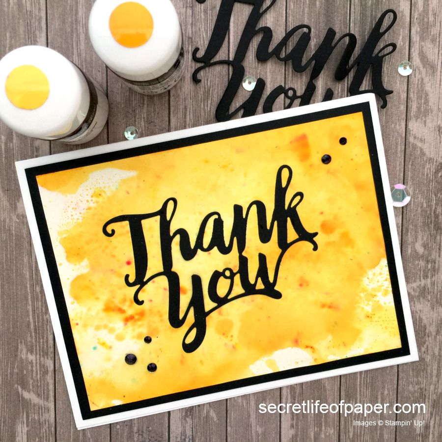 Stampin Up Thank You Die