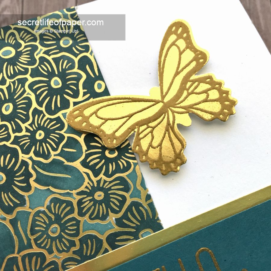 SU Butterfly Gala Gold Embossed