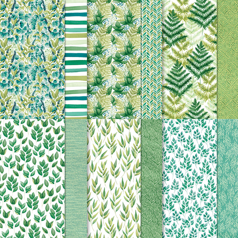 Stampin Up Forever Greenery DSP