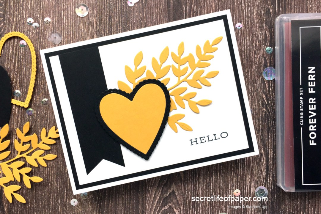 Stampin' Up! Bumblebee & Forever Fern Bundle Card