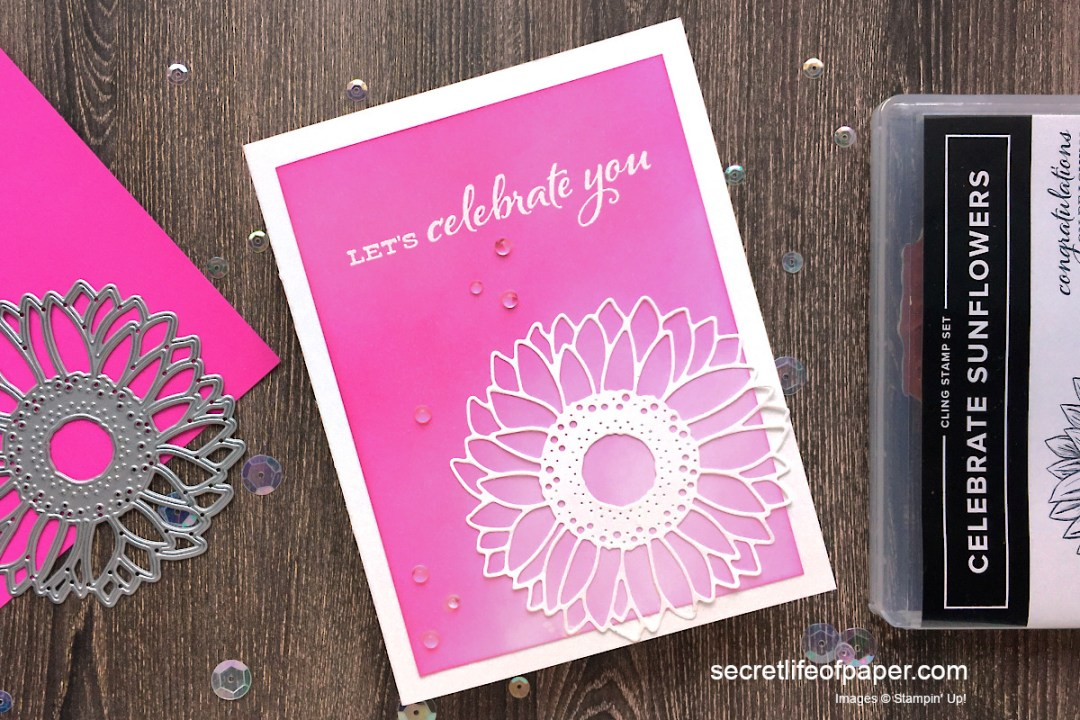 Stampin Up Celebrate Sunflowers Magenta Madness