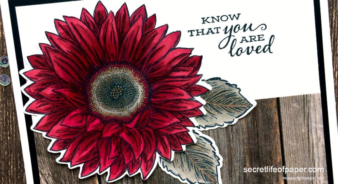 Stampin Up Celebrate Sunflowers Cherry Cobbler