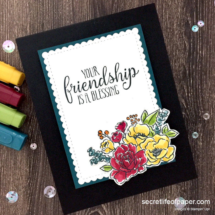 Stampin Up Jar of Flowers