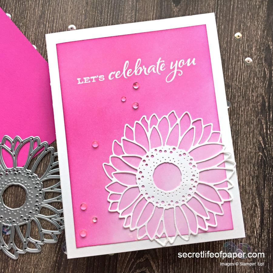 Stampin Up Celebrate Sunflowers Magenta Madness 1:1