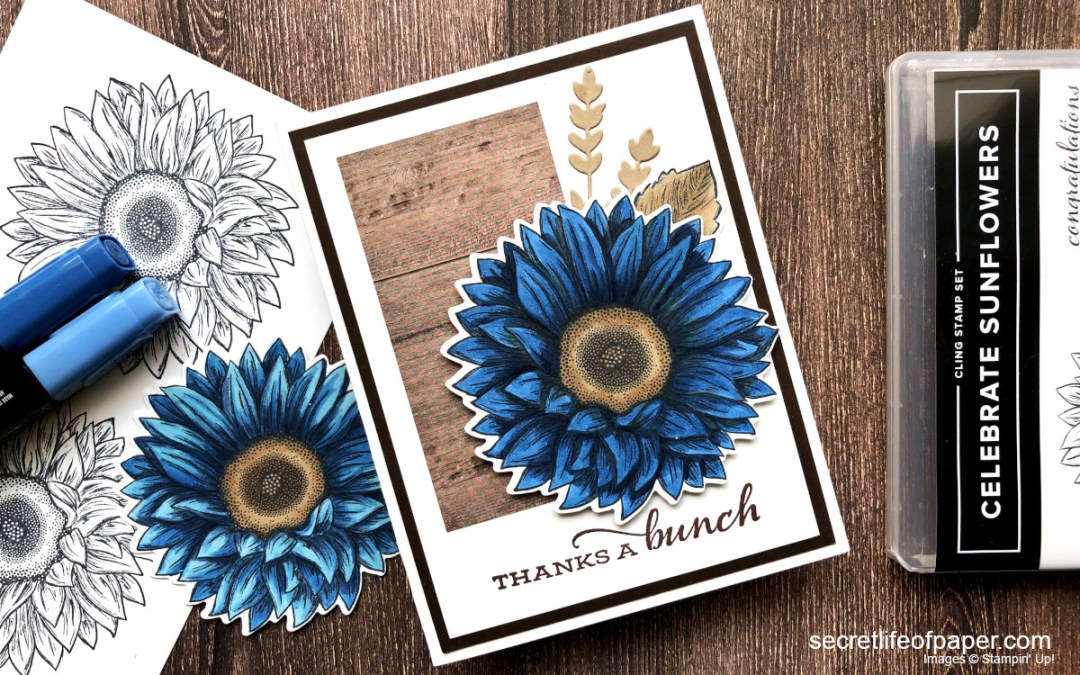 Stampin' Up! Celebrate Sunflowers in Blue