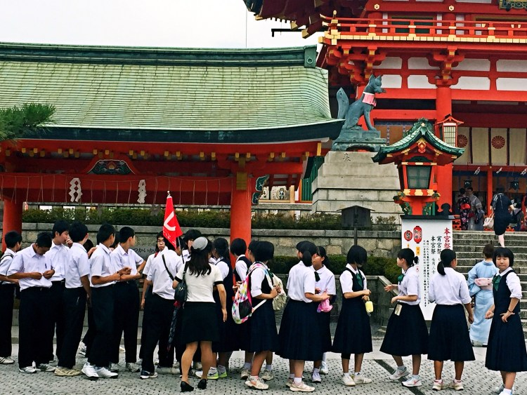 School trip at Fushimi Inari