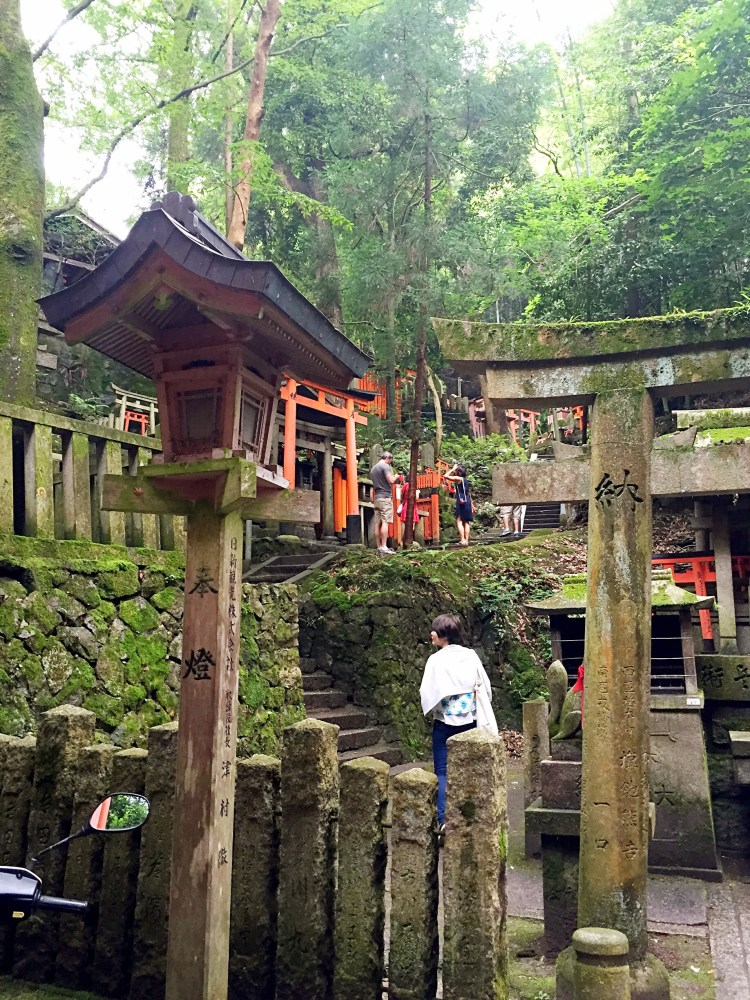 Small shrines high up in the mountain - Kyoto 1 Day Itinerary