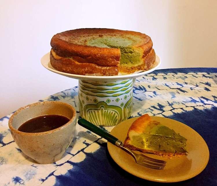 Layered matcha cheesecake by SecretMoona - matcha cheesecake