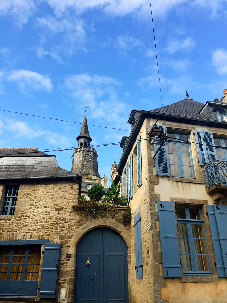 View of Tour de l'Horloge - Medieval town of Dinan