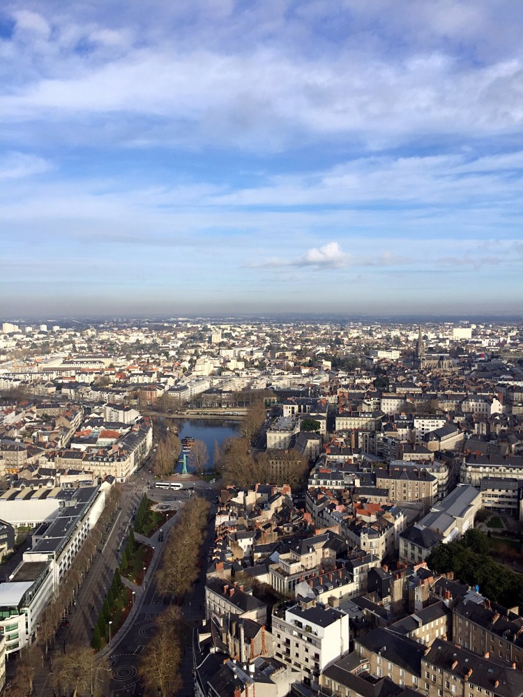 Aerial view of the river - things to do in Nantes