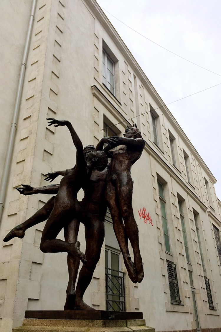 Sculpture beside the Graslin Theatre in Rue Scribe