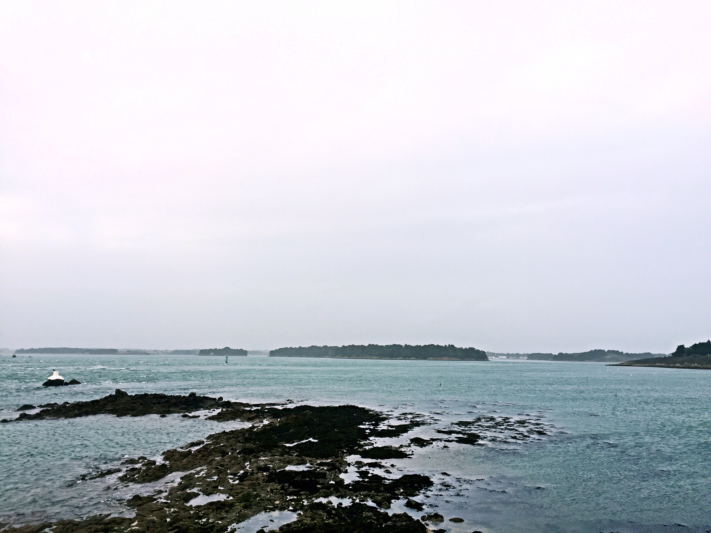 View of the small islands - off the beaten track Brittany