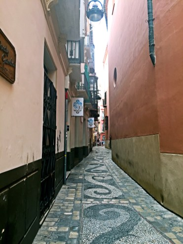 Small back street in Malaga