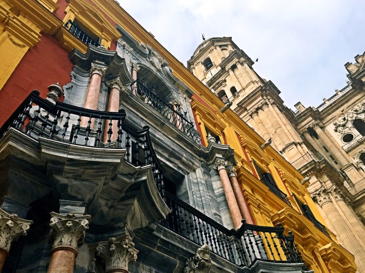 Colourful building in Malaga