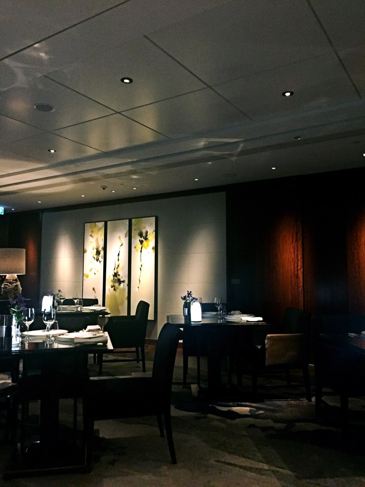 Dark decor at Ting, Shard - Ting Shard