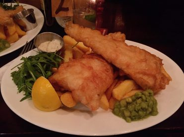 Fish & chips at the Swimmer - Holloway Road