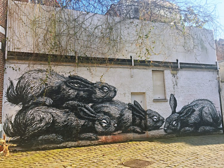ROA's rabbits in Ghent - reasons to visit Ghent
