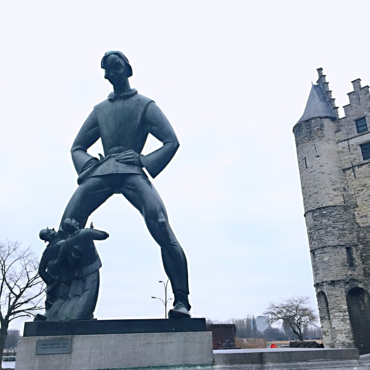 Statue in Antwerp - Belgium photo diary