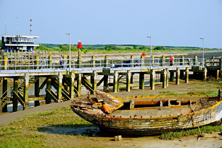 Abandoned wooden boat, Rye Harbour, - Rye East Sussex
