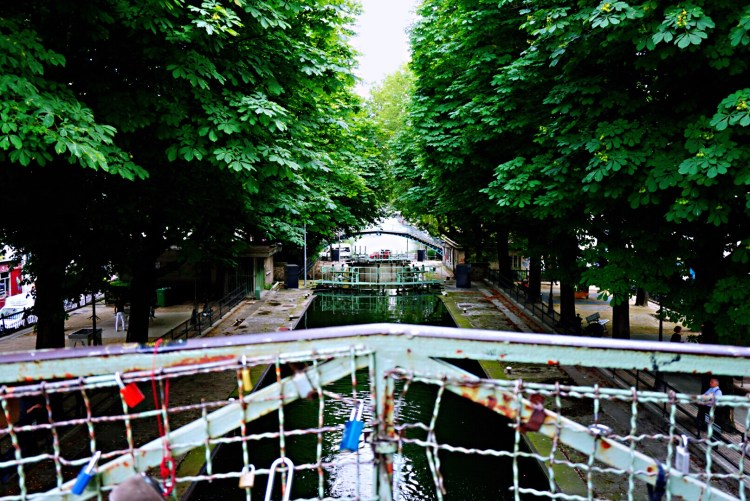 View of Canal St-Martin, Paris
