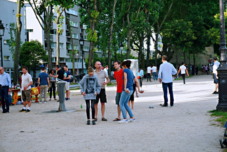 Game of petanque - Canal St-Martin