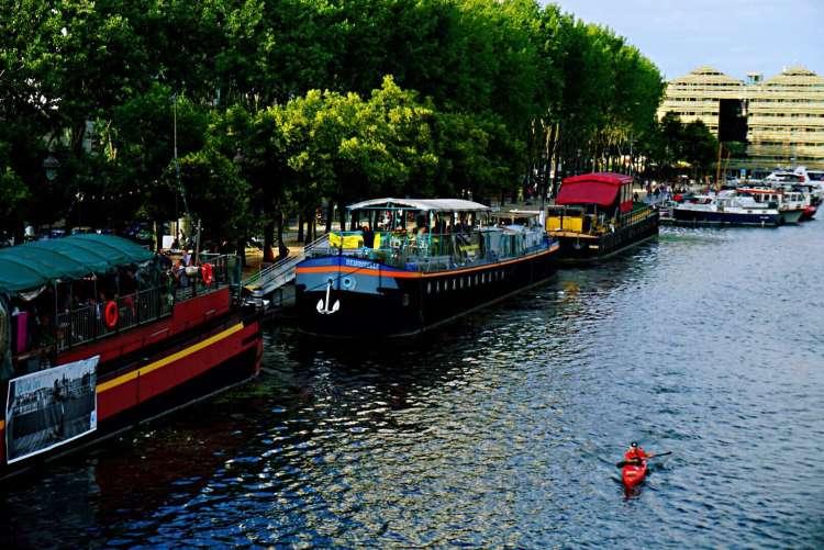 Boats in bassin de la Villette - Canal St-Martin