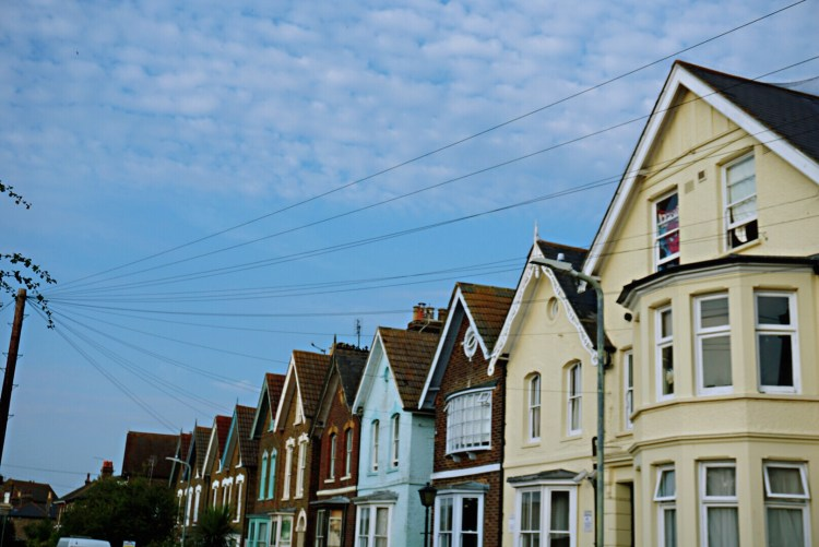 Colourful town houses - Whitstable day trip seaside town things to do