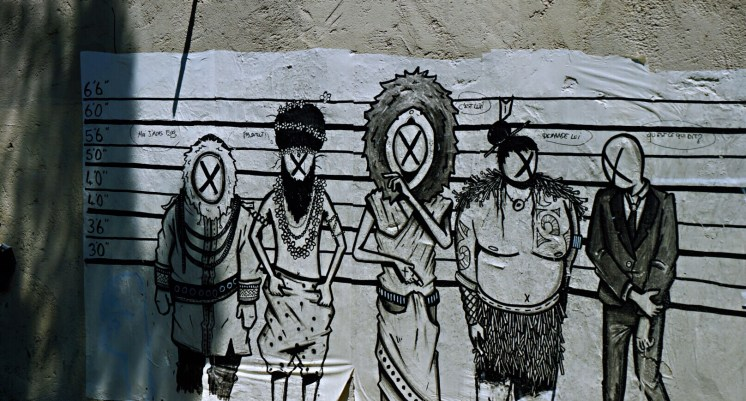 Indian usual suspects by Mara - Street art Montpellier