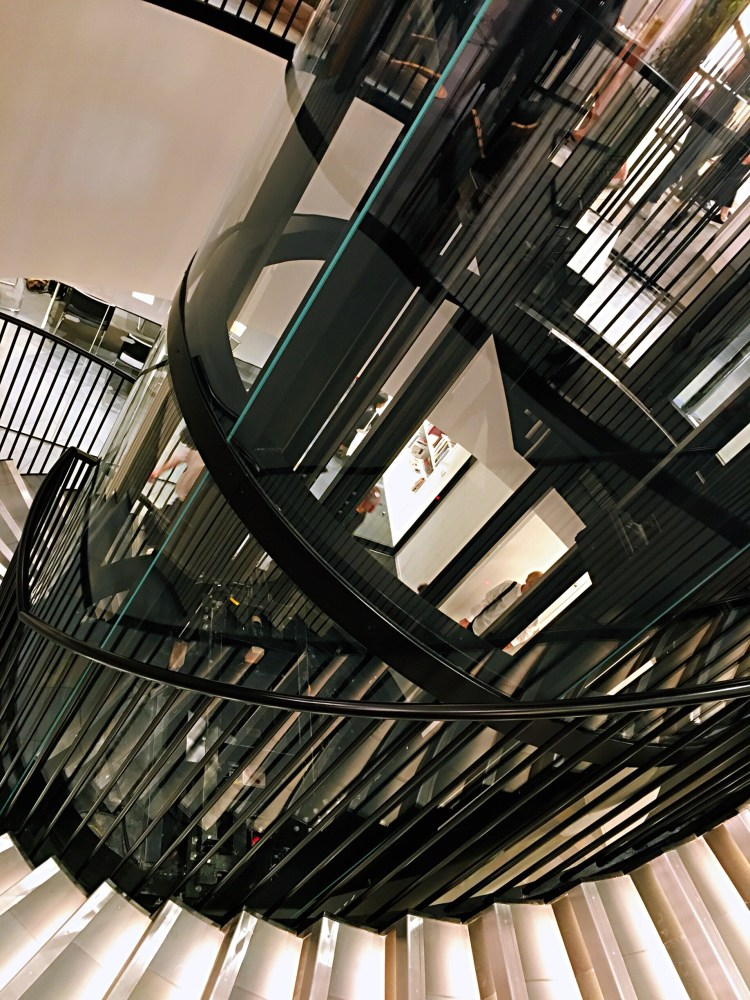 Spiral staircase - Japan House London