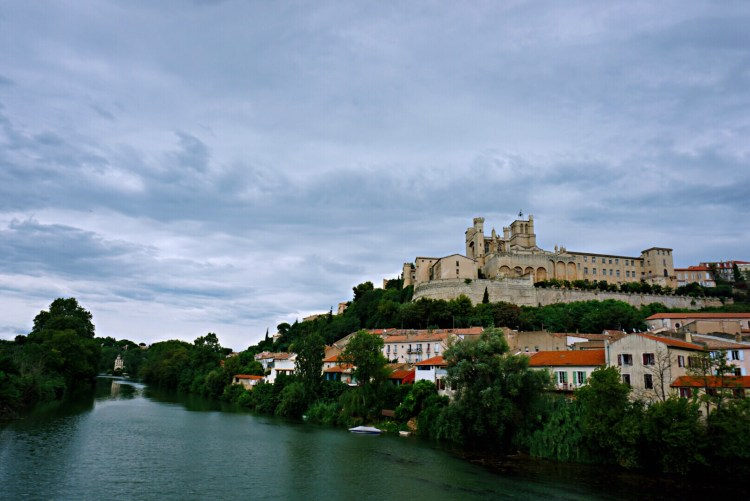 View of Béziers Cathedral on top of hill - Visit Occitanie