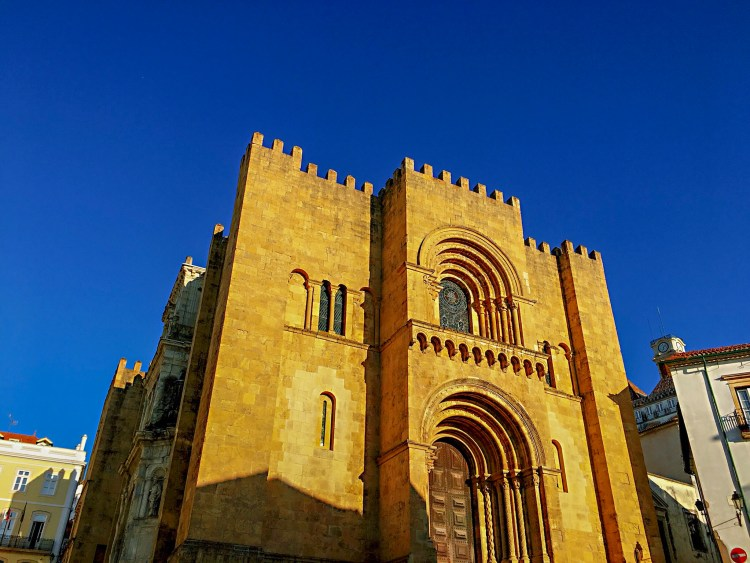 Side view of Old Cathedral of Coimbra - One day in Coimbra