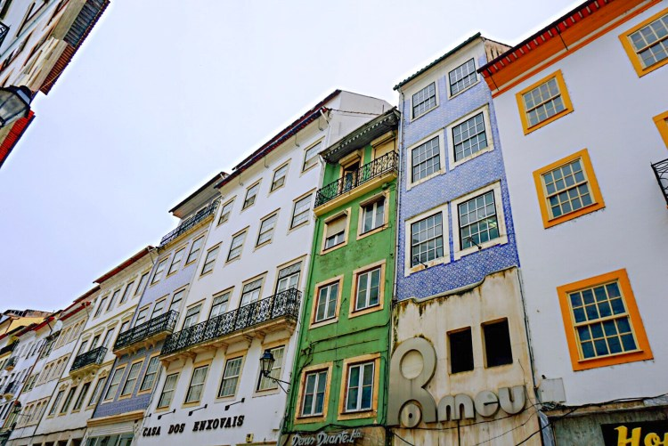 Colourful building facades in Coimbra - One day in Coimbra