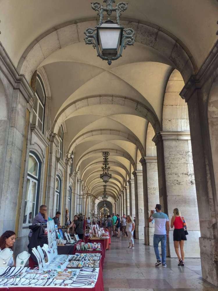 Arcade in Praca do Comercio - 3 days in Lisbon