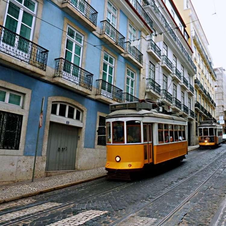 Lisbon yellow tram - 3 day in Lisbon